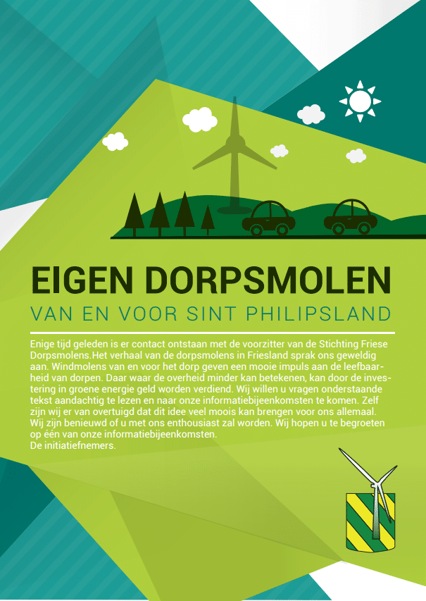 Dorpsmolen Sint Philipsland (brochure)