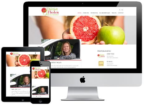 Website Diëtist Tholen (responsive webdesign)