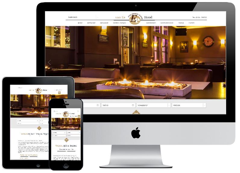 Responsive webdesign Hotel van Ee (inclusief API Redforts Software)
