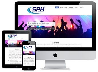 Responsive webdesign SPH Int. Music, Artists and Events