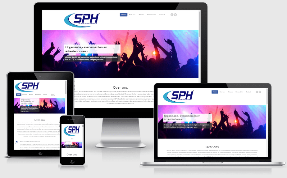 Webdesign SPH Int. Music, Artists and Events