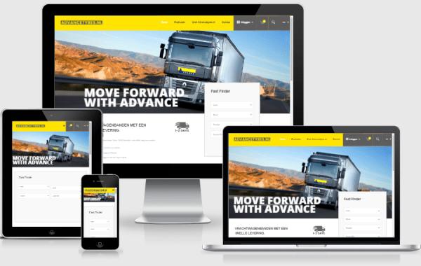 Responsive Webshop voor Advancetyres.nl