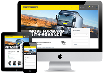Webshop Advancetyres.nl inclusief iDEAL