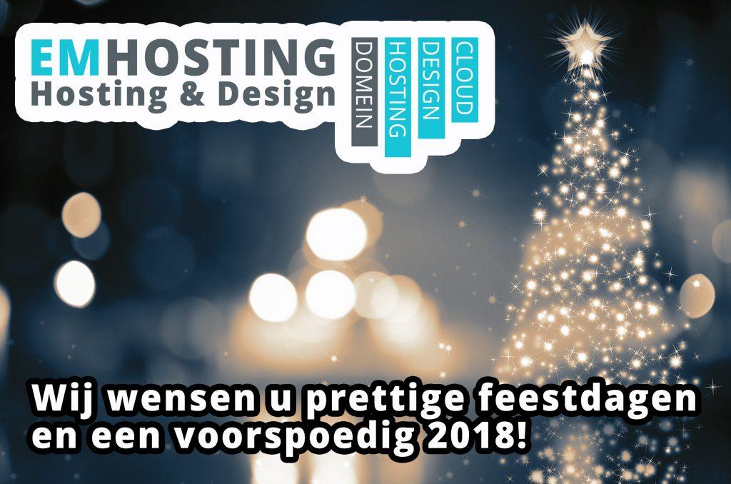 fijne feestdagen EM Hosting & Design