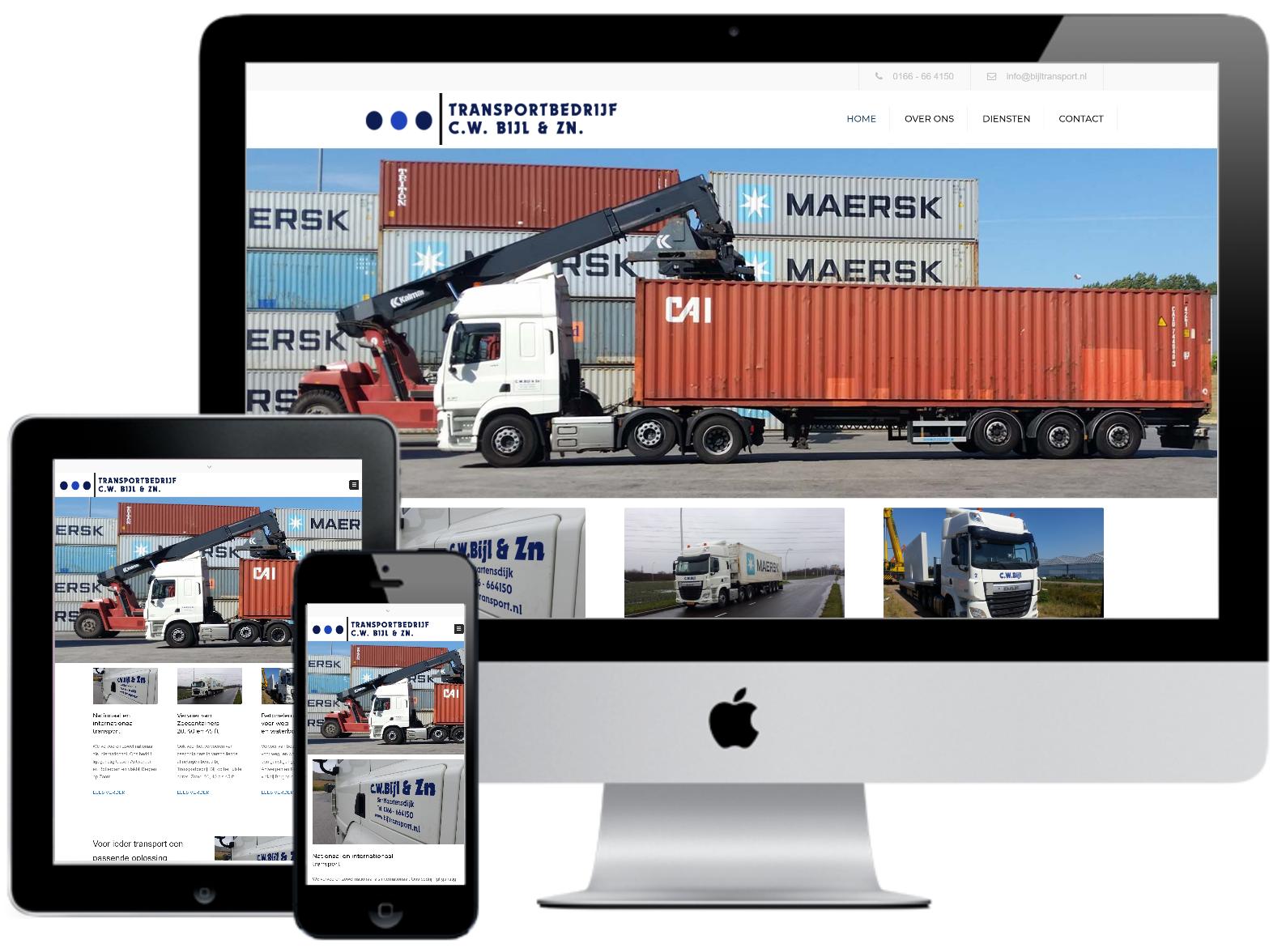 Responsive webdesign Transportbedrijf Bijl Sint Maartensdijk