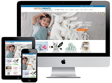 responsive webdesign gifts en prints webshop portfolio
