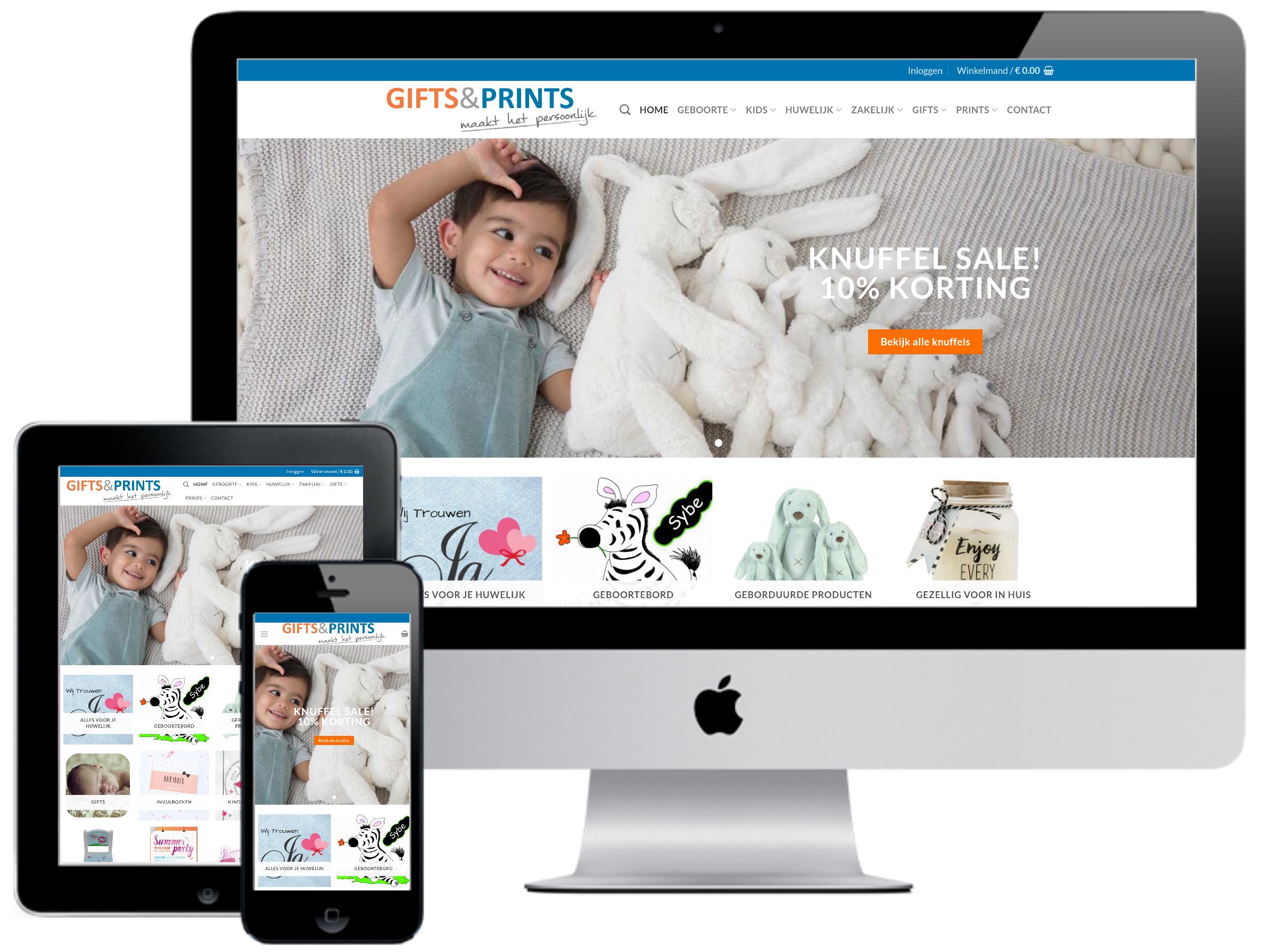 responsive webdesign gifts en prints webshop