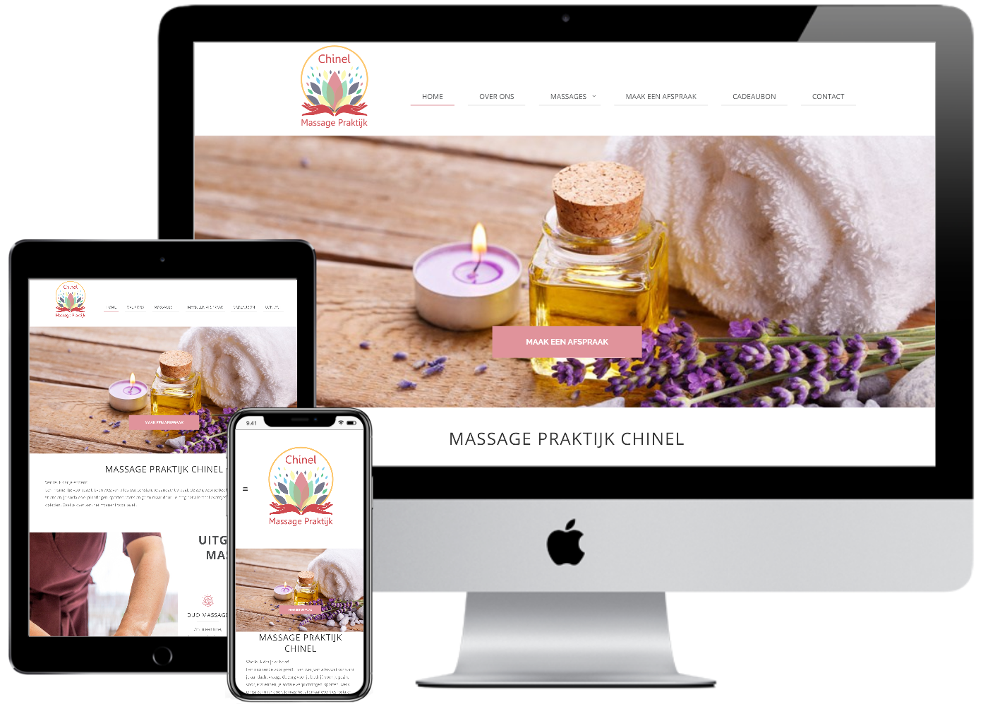 Responsive Website Massage Praktijk Chinel