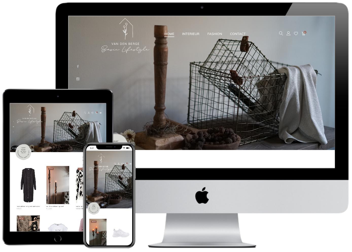 Responsive webshop Van den Berg Basic Lifestyle